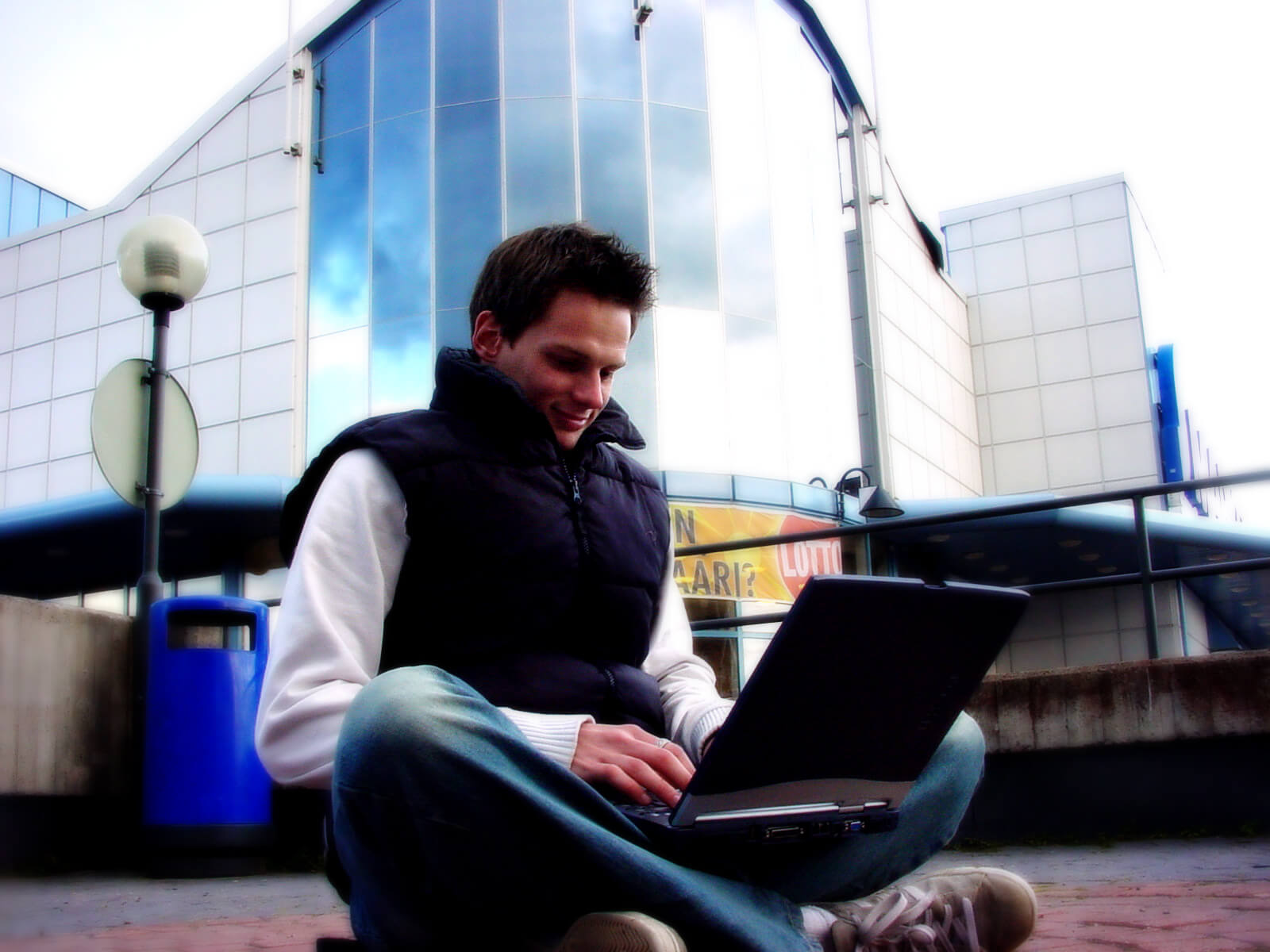 guy with the laptop